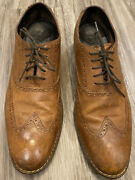 Cole Haan Air Colton Wing Tip Oxfords Shoes Distressed Brown C10027 Mens 11.5 M