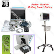 12.1''tft Color Lcd Patient Monitor,multi-language/parameters+rolling Stand Usa