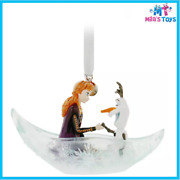 Disney Anna And Olaf Fairytale Moments Sketchbook Ornament – Frozen 2 Brand New