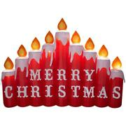 Christmas 9and039 Wide Airblown Inflatable Merry Christmas Candles Gemmy Lighted