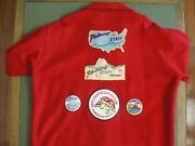 Philmont Scout Ranch Red Jacket With 3 Very Rare Patches And Other Items.