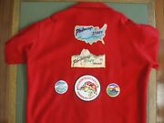 Philmont Scout Ranch Red Jacket With 3 Very Rare Patches And Other Items