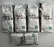 Lot Of 5 Bags Starbucks Decaf Pike Place Whole Bean Coffee-16 Oz Exp Oct 4 2020