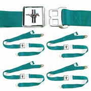 Ford Mustang Gt Aqua Lap Seat Belt Buckle Fits Coupe Fastback Set Of Four Cs