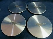 Ford Mustang 1996-1998 Machined Metal Center Caps - Set Of 4 - Oem - 3174