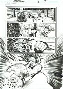 Sweet Tooth 8 Pg 12 Original Art - Beautiful Jeff Lemire Action Page
