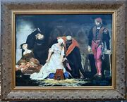 Painting Execution Of Jane Grey Oil On Canvas By Guy Foster