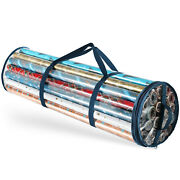 Waterproof Christmas Wrapping Paper Storage Bag Fits 14-20 Rolls 40 Inches Long