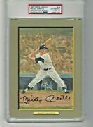 1987 Perez-steele Great Moments 19 Mickey Mantle Hof Signed Auto Psa/dna 10