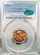 1972 Ddo Pcgs Ms66 Rd Lincoln Cent Cac