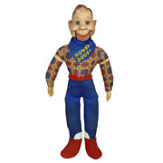 1950s Large Size Howdy Doody W/glass Sleep Eyes Ventriloquist Doll Ideal Rare