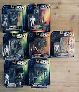 Star Wars Deluxe Kenner Action Figures [green And Red Card] Lot Boba Han Luke...