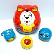 Vintage Fisher Price And Shelco Animal Ball Roller Toys Baby Roll Around Toys