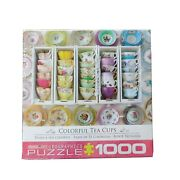 1000pc Jigsaw Puzzle Colorful Tea Cups Eurographics Colorful Cute Puzzle