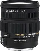 Sigma 17-70mm F/2.8-4.5 Dc Macro Hsm Optical Stabilized Os Lens For Canon Ef