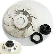 30pk 4andrdquo Spiral Turbo Diamond Grinding Cup Wheel For Concrete W/ 5/8andrdquo-11 Adapter