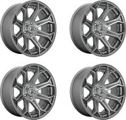 Set 4 Fuel D705 Siege Platinum Wheels 20x9 5x150 1mm For Toyota Lifted Truck