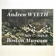 Rare Vintage 1970 Andrew Wyeth Signed Boston Museum Exhibition Poster May Day