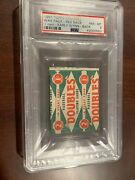 1951 Topps Psa 8 Wax Pack Hof Early Wynn On Back One Of A Kind Red Back