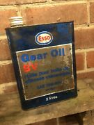 Esso Gear Oil Bv Oil Can Advertising Collectable Automobilia Garage Display