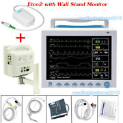 With Capnograph Vital Sign Icu Ccu Multiparameter Monitor Cms8000+wall Stand
