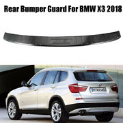 For Bmw X3 2018-20 Outer Trunk Sill Plate Guard Rear Bumper Protector Trim Black
