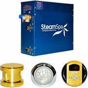 New Steam Generator Package, 6kw, Polished Brass