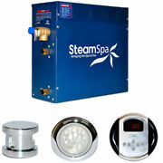 New Steam Generator Package 6kw Polished Chrome
