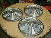 1965-1966 Ford Mustang 14 Hubcaps Wheel Cover Hub Caps Lot Set Of 3 Free Ship
