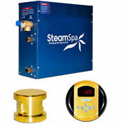 New Steam Generator Package, 7.5kw, Polished Brass