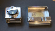 Rare Vintage Pierre Cardin Lighter And Ashtray Set - Silver Plated - Estate Piece