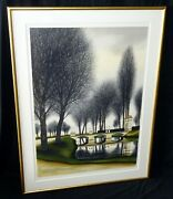 French Framed 39x27 Color Print 237/250 Castle Road By Jacques Deperthes Cum