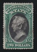 Us O68 2 State Department Official Used W/ Crowe Cert F-vf Appr Scv 3000