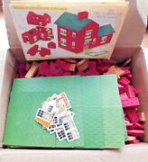 Vintage 1940's Halsam Products Build Your Own City 4 American Brick Sets