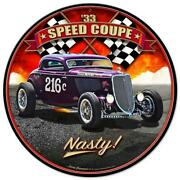 Thor Classic Hot Rod Race 1933 Speed Coupe Metal Sign Man Cave Garage Body Shop