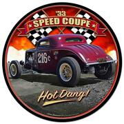 Classic Hot Rod Race 1933 Speed Coupe Metal Sign Man Cave Garage Body Shop 1