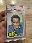 Walter Payton Rookie Psa 2 Topps 1976 Chicago Bears Antique Collector Card 148