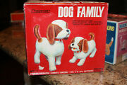 Vintage Cragstan Dog Family Battery Operated Remote Control Toy Made In Japan