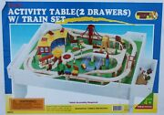 Deluxe Tumble Tree Woods Activity Table With 2 Drawers And Train New In Box
