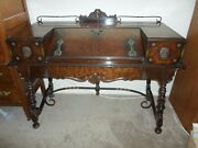 Fancy Slant Front Antique Victorian Lap Writing Desk - Early 1900and039s Late 1800and039s