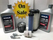 Complete Walker Mower Oem Engine Filter Kit With Synthetic Blend Oil