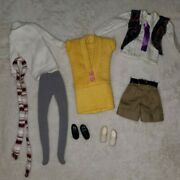 Vintage Barbie 90s Ribbed Dress Tops Pants Stockings Outfits Lot