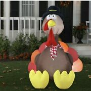Thanksgiving 6ft Inflatable Turkey Holiday Vintage