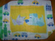 Vintage Blues Clues Puppy Dog Kitty Cat Cars Reversible Pillow Case Twin Set
