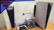 Sony Playstation 5 Console Ps5 Standard Disc Version + Spiderman Gamefast Ship