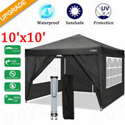 Best 10and039x10and039 Canopy Party Wedding Tent Outdoor Pavilion Heavy Duty Cater Event
