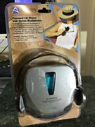 Audiovox Personal Portable Cd Player Ce-101 Stereo Headphones Sealed New. B115