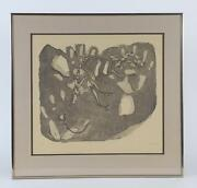 Fine Print Lithograph Tyrannosaurus Rex Fossil Skeleton By Cinde L. Steese 1982