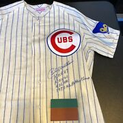 Beautiful Billy Williams Signed Heavily Inscribed Stats Chicago Cubs Jersey Uda