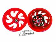 Cbr1000rr 240 Fat Tire Candy Red Shark Tooth Wheels 03 And 04 Cbr1000rr